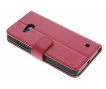 Selencia Luxe lederen Booktype Microsoft Lumia 550
