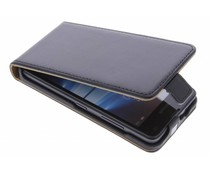 Selencia Luxe Lederen Flipcase Microsoft Lumia 550 - Zwart
