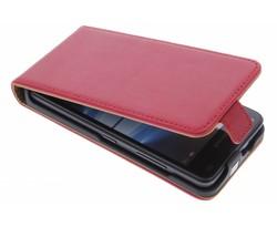 Selencia Luxe Lederen Flipcase Microsoft Lumia 550 - Rood