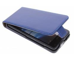 Selencia Luxe Lederen Flipcase Microsoft Lumia 550 - Blauw