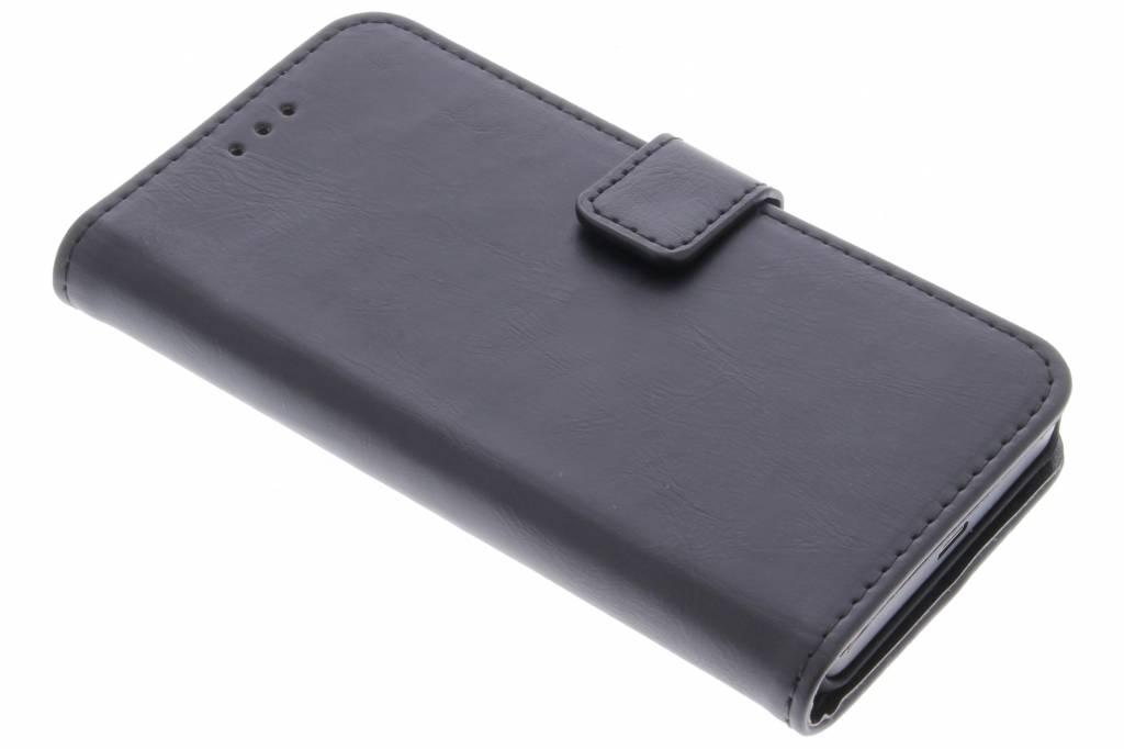 Zwarte luxe leder booktype voor de Microsoft Lumia 550