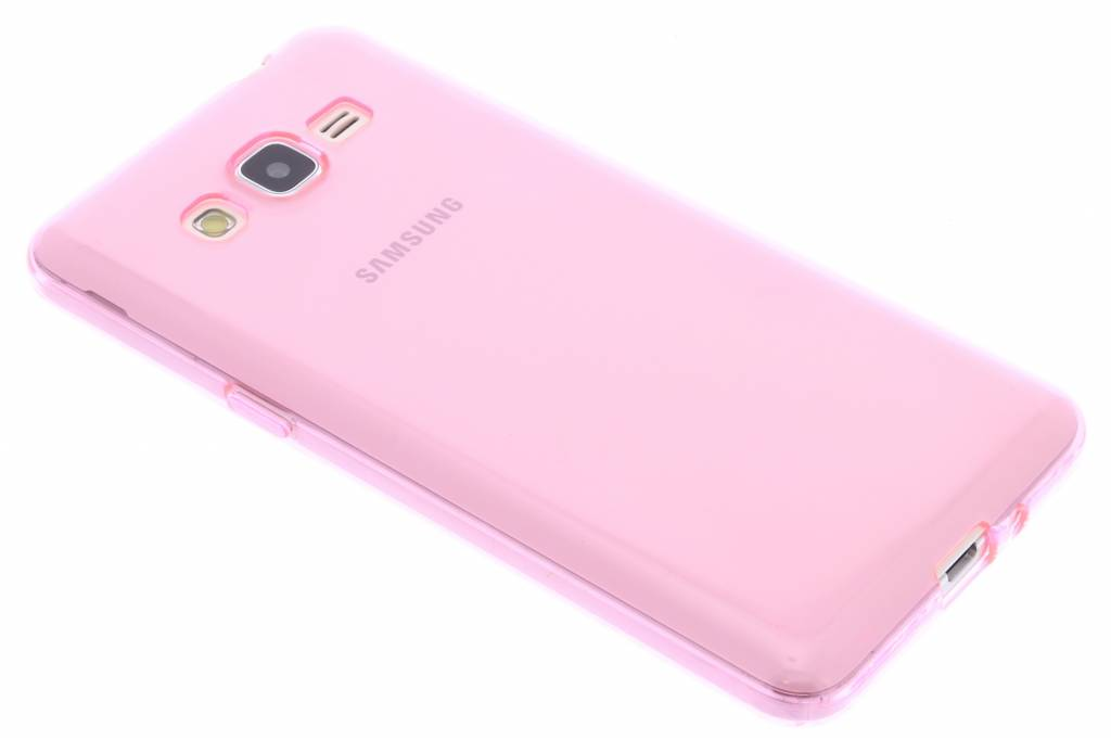 Roze transparante gel case voor de Samsung Galaxy Grand Prime