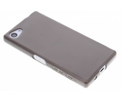 Grijs transparant gel case hoesje Sony Xperia Z5 Compact