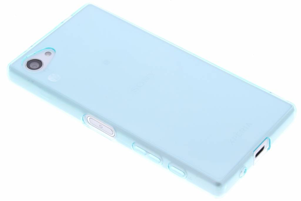 Turquoise transparant gel case hoesje voor de Sony Xperia Z5 Compact