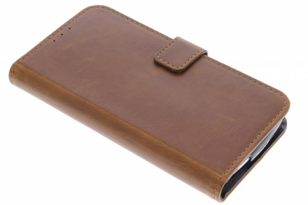 Kastanjebruine luxe leder booktype voor de Acer Liquid Z530