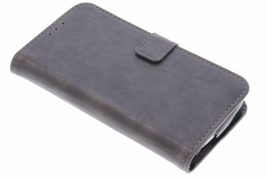 Grijsbruine luxe leder booktype voor de Acer Liquid Z530