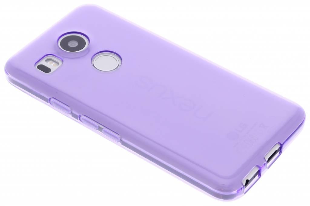 Paarse transparante gel case voor de LG Nexus 5X