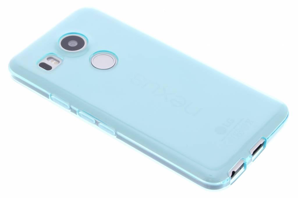 Turquoise transparante gel case voor de LG Nexus 5X