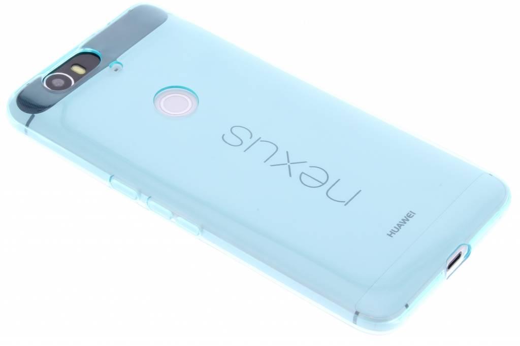 Turquoise transparante gel case voor de Huawei Nexus 6P