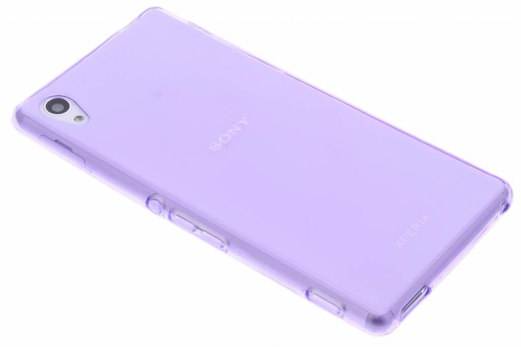 Paarse transparante gel case voor de Sony Xperia M4 Aqua