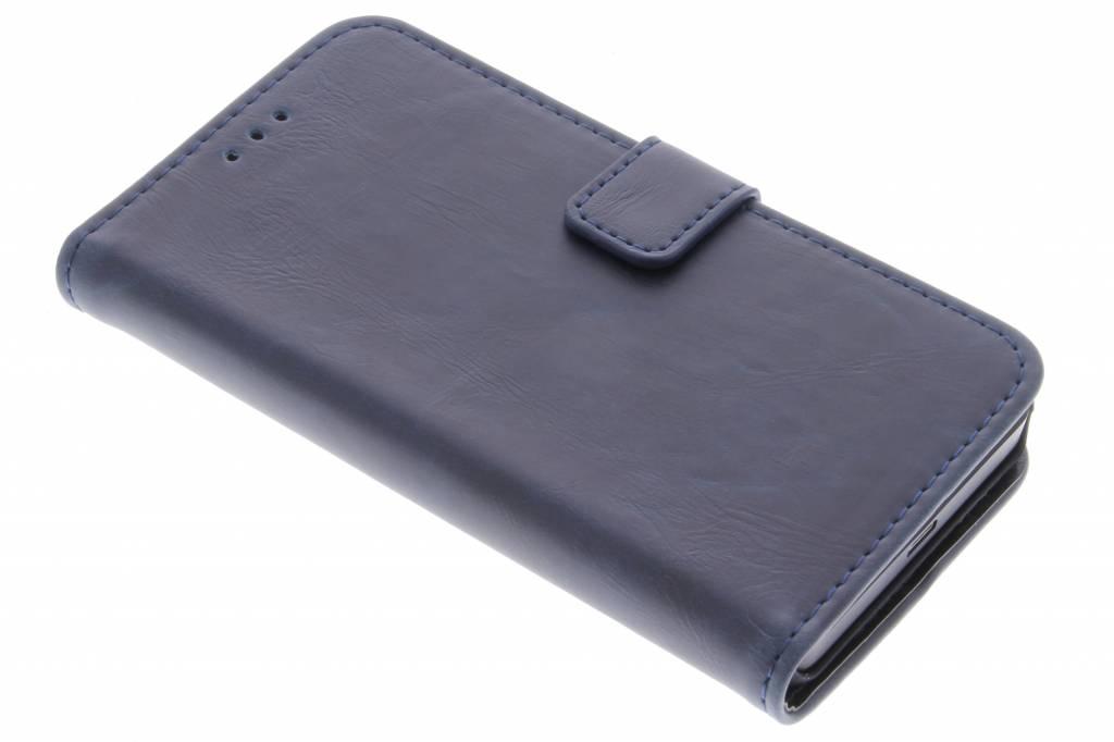Donkerblauwe luxe leder booktype voor de Microsoft Lumia 550