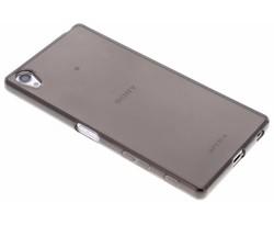 Grijs transparant gel case hoesje Sony Xperia Z5 Premium