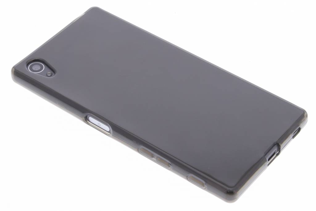 Grijs transparant gel case hoesje voor de Sony Xperia Z5