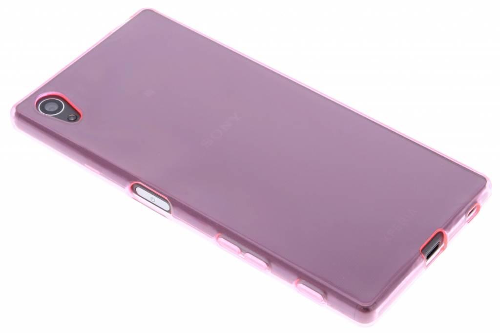 Roze transparant gel case hoesje voor de Sony Xperia Z5