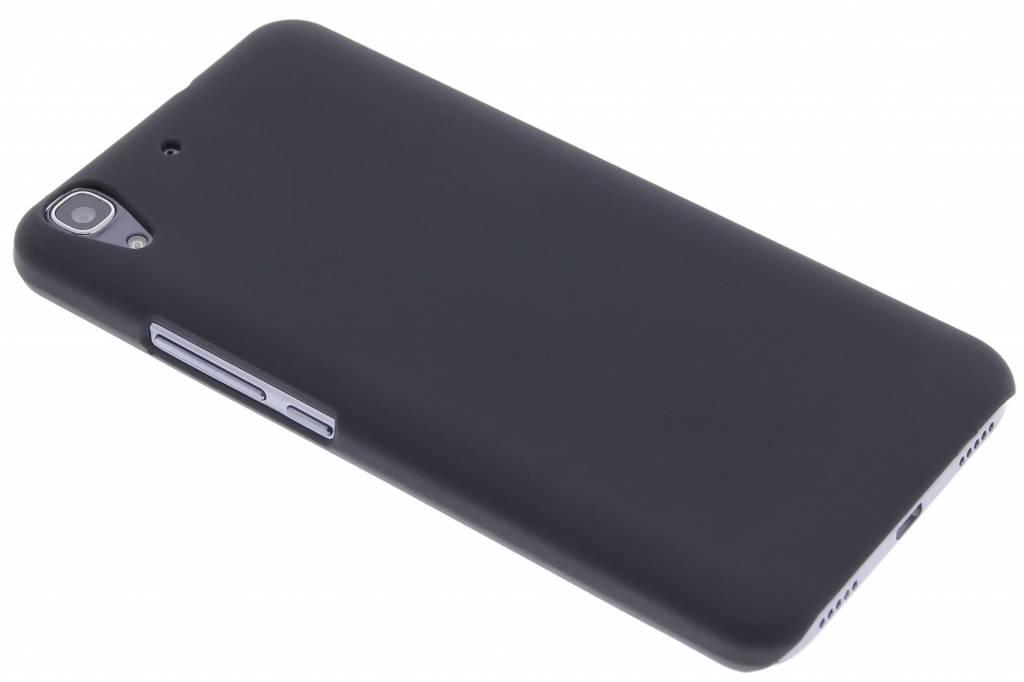 Zwart effen hardcase hoesje voor de Huawei Y6