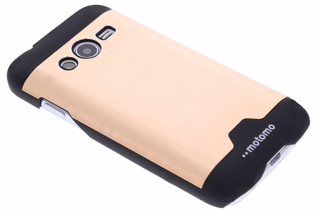 Gouden brushed aluminium hardcase hoesje voor de Samsung Galaxy Trend 2 (Lite)