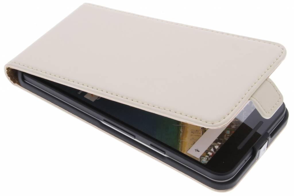 Luxe Flipcase voor de LG Nexus 5X - Gebroken wit