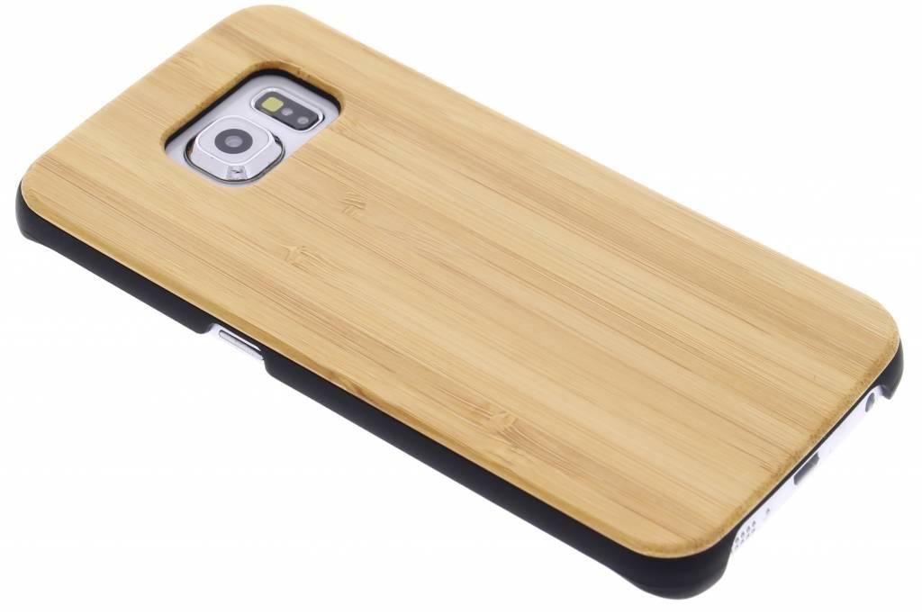 Lichtbruin echt hout design hardcase hoesje voor de Samsung Galaxy S6 Edge