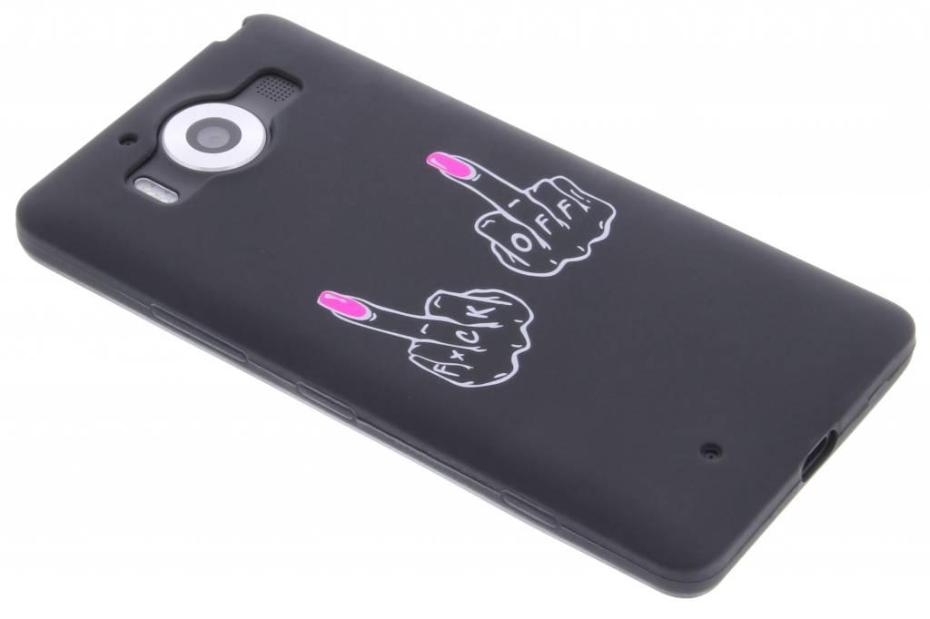 F*ck off glow in the dark TPU case voor de Microsoft Lumia 950