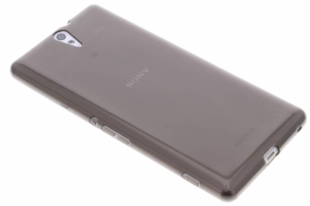 Grijze transparante gel case voor de Sony Xperia C5 Ultra