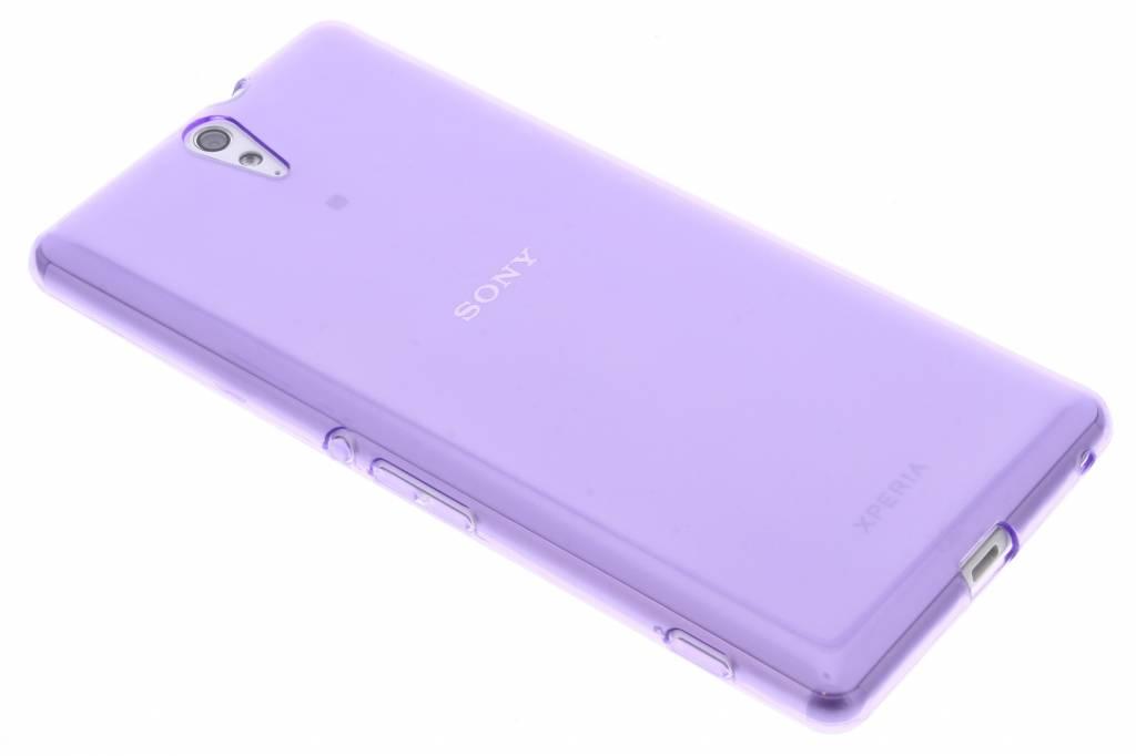 Paarse transparante gel case voor de Sony Xperia C5 Ultra