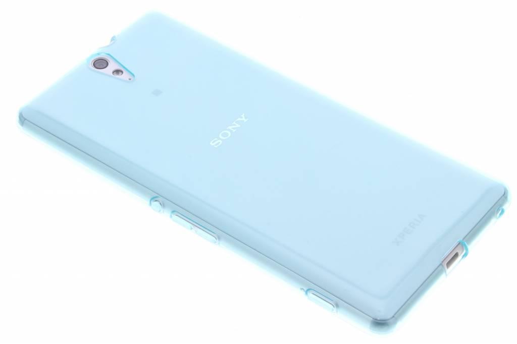Turquoise transparante gel case voor de Sony Xperia C5 Ultra