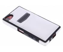 Lederen backcover met vakjes Sony Xperia Z5 Compact