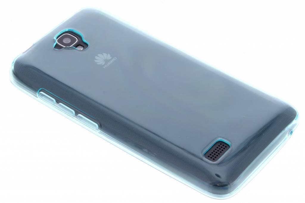 Turquoise transparante gel case voor de Huawei Y5
