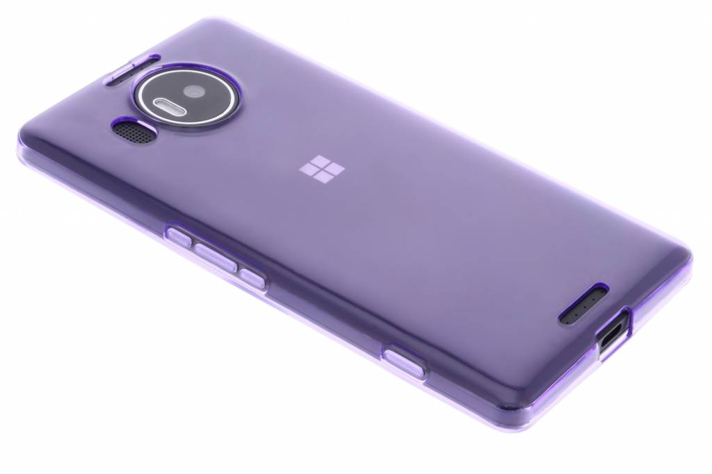 Paarse transparante gel case voor de Microsoft Lumia 950 XL