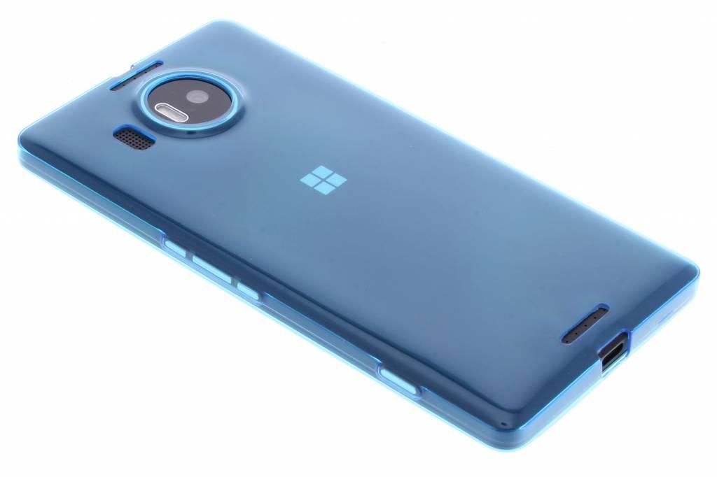 Blauw ultra thin transparant TPU hoesje voor de Microsoft Lumia 950 XL