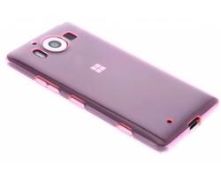 Roze transparant gel case Microsoft Lumia 950