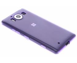 Paars transparant gel case Microsoft Lumia 950