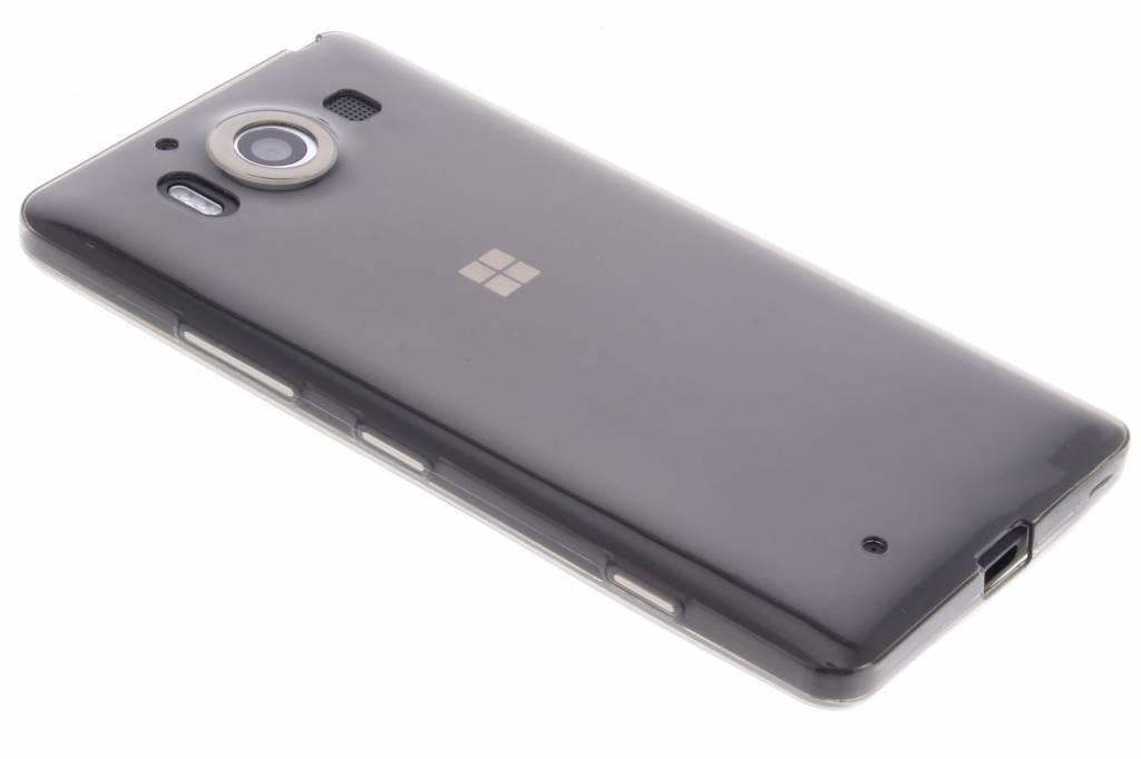 Grijs ultra thin transparant TPU hoesje voor de Microsoft Lumia 950