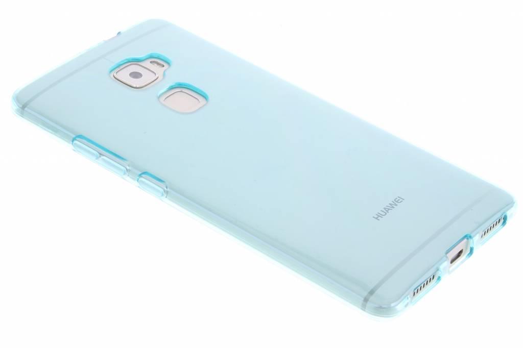 Turquoise transparante gel case voor de Huawei Mate S