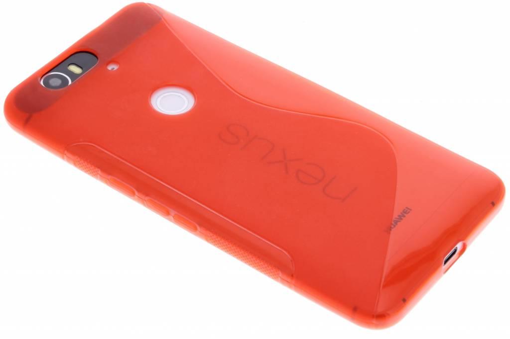 Rood S-line TPU hoesje voor de Huawei Nexus 6P