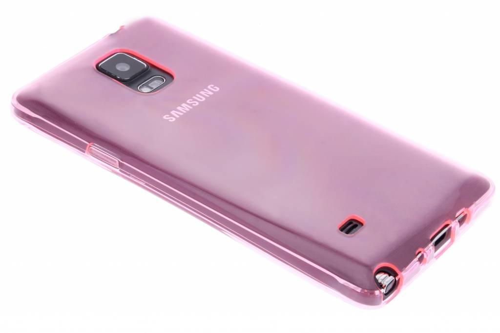 Roze transparante gel case voor de Samsung Galaxy Note 4