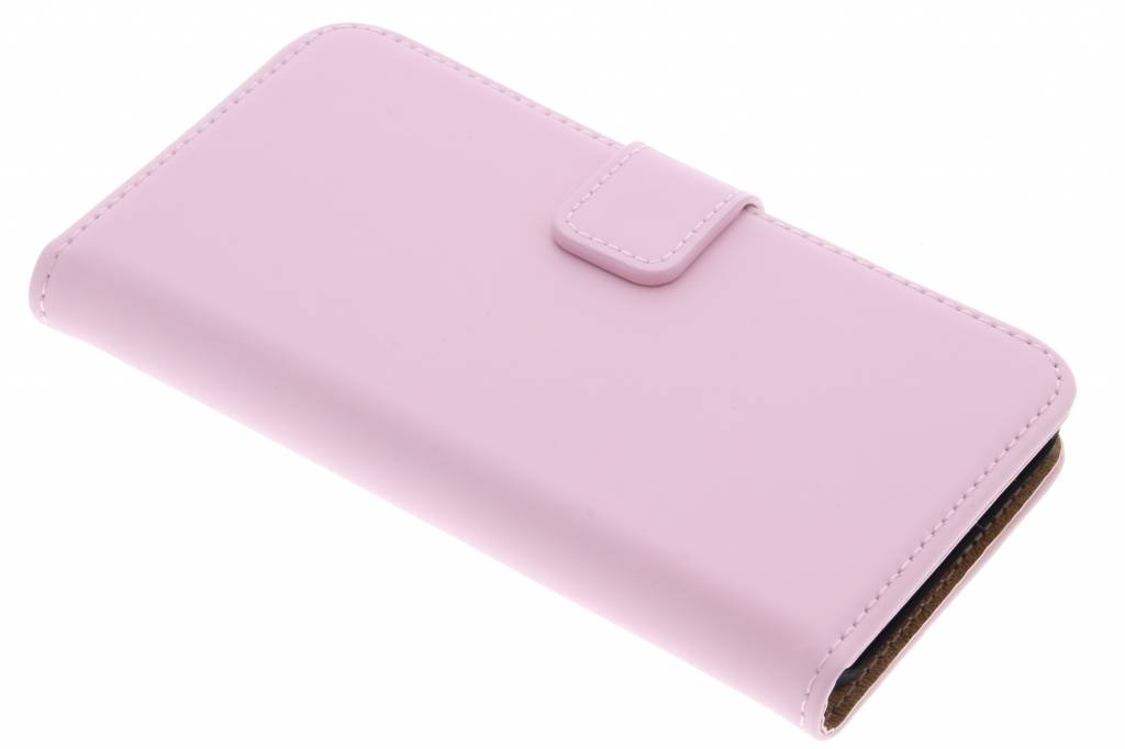 Selencia Luxe Book Case voor de Microsoft Lumia 550 - Poederroze
