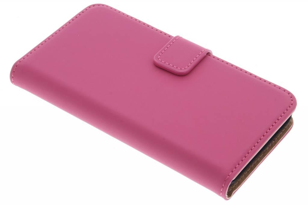 Selencia Luxe Book Case voor de Microsoft Lumia 550 - Fuchsia