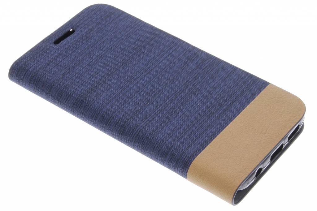 Donkerblauwe denim TPU booktype hoes voor de Samsung Galaxy S7