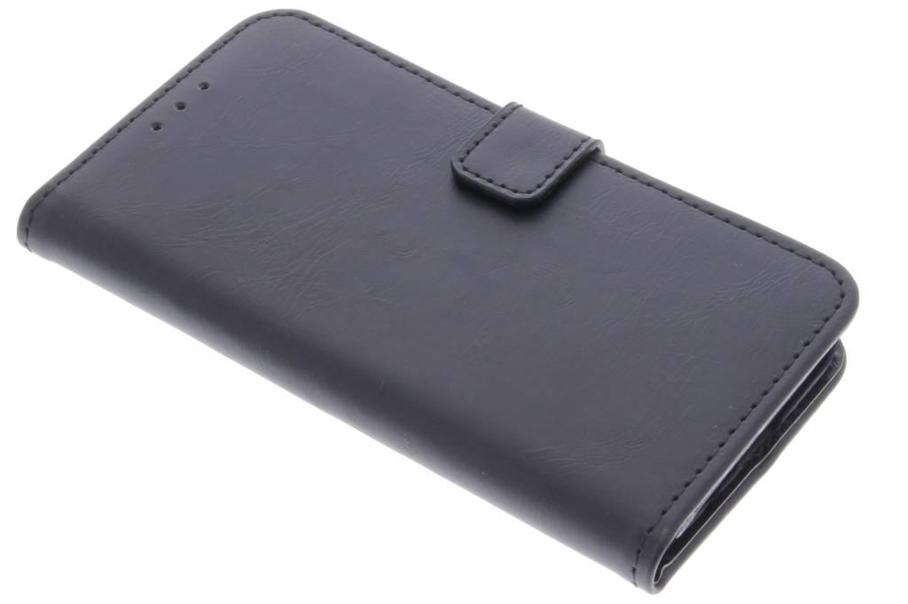Zwarte luxe leder booktype hoes voor de Samsung Galaxy S7