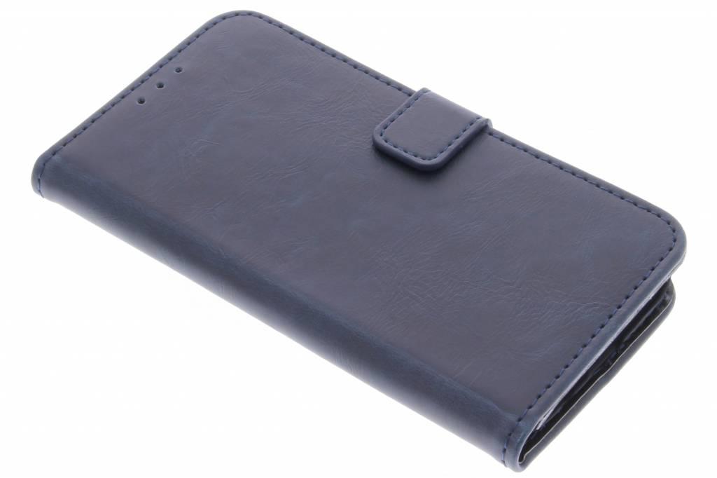 Donkerblauwe luxe leder booktype hoes voor de Samsung Galaxy S7