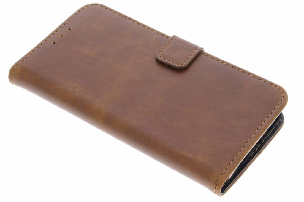 Kastanjebruine luxe leder booktype hoes voor de Samsung Galaxy S7