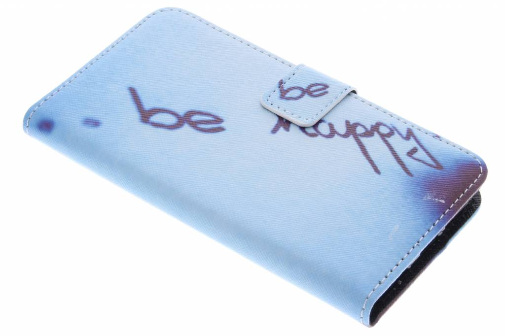Be happy design TPU booktype hoes voor de Samsung Galaxy S7