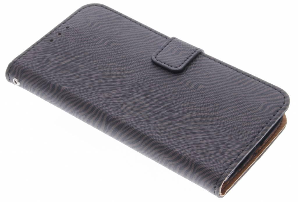 Donkerbruine luxe zebra booktype hoes voor de Samsung Galaxy S7