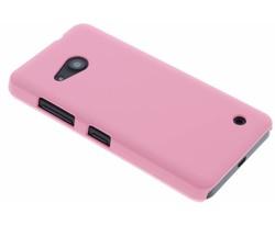 Roze effen hardcase hoesje Microsoft Lumia 550