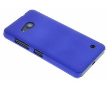 Blauw effen hardcase hoesje Microsoft Lumia 550