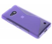 Paars S-line TPU hoesje Microsoft Lumia 550