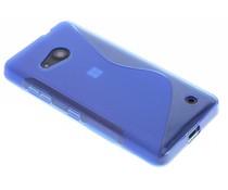 Blauw S-line TPU hoesje Microsoft Lumia 550