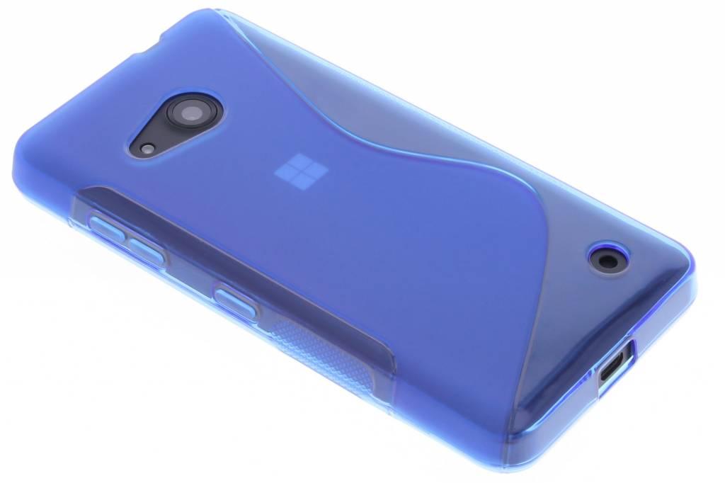 Blauw S-line TPU hoesje voor de Microsoft Lumia 550