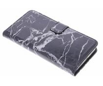 Zwart marmer booktype hoes Huawei Y6